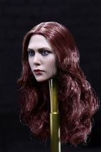 [MIS-H011B] Custom 1:6 Female Head with Red Curly Hairstyle