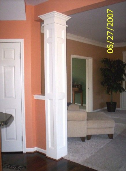 Square Column Trim : Interior columns as custom trim