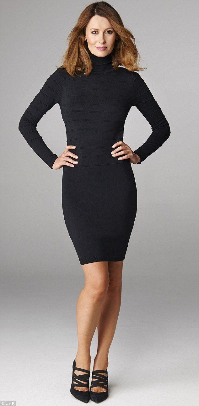 Black jumper dress, £55, asos.com Heels, £245, russelland bromley.co.uk...