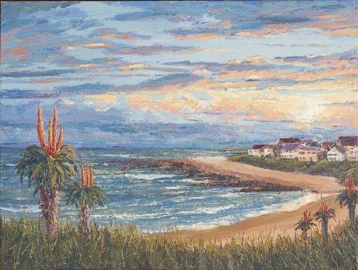 Winter in Jeffreys Bay. Acrylics on stretched canvas. 460X610mm. R1400.