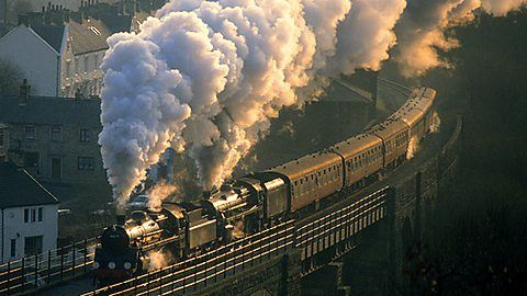 The beauty of the steam locomotives