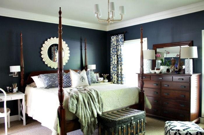 Wall Paint Is Martha Stewart Wrought Iron Master Bedroom