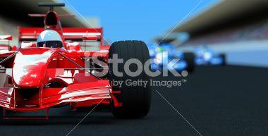 Racing Cars Royalty Free Stock Photo