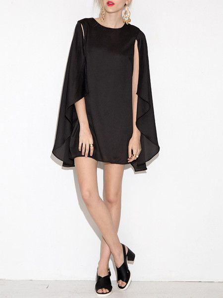Mini Poncho Dress by Designer CIndy from #stylewe