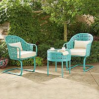 $299 Member's Mark Parker 3-Piece Bistro Set, Blue - Sam's Club