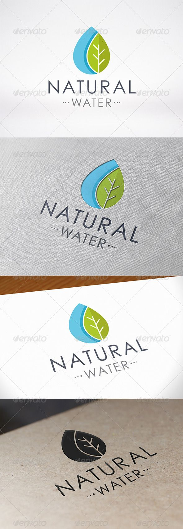 Green Water Logo Template - Nature Logo Templates