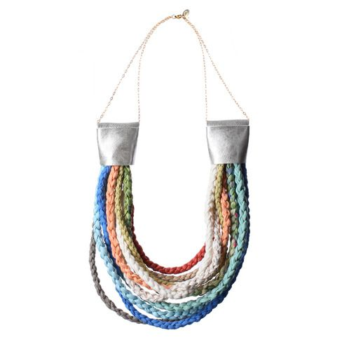 https://www.cityblis.com/6172/item/5740  Naughty peony necklace - $220 by DORIDEA  The specialty of this DORIDEA piece is the technique which the designer interprets to her unique voice in many fresh summer colours. You can combine this necklace with many colourful sets to get a georgous outfit. The silver leather ends are highlighted with gentle 14k gold-filled chains and little ...
