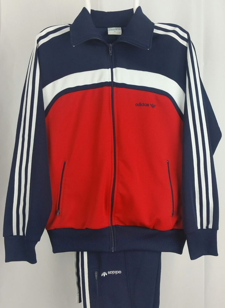 Taiwan R O C Adidas 2pc Track Suit Jacket W Pants Red White Blue