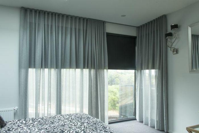 le rideau voilage dans 41 photos rideau pinterest voilage ikea rideaux gris et les rideaux. Black Bedroom Furniture Sets. Home Design Ideas