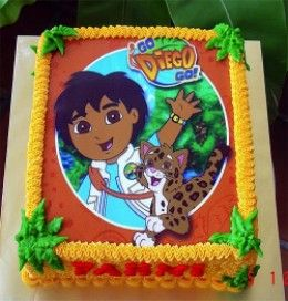 Best Go Diego Go Theme Party Images On Pinterest Go Diego Go - Go diego go birthday cake
