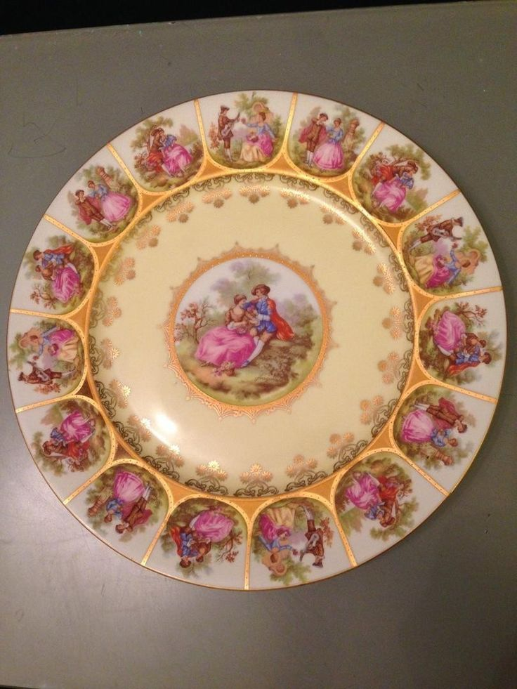 Bavarian Vintage Fragonard Royal Wall Plate Love Story 11 ...