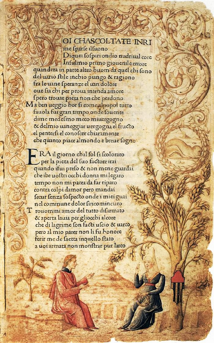 PETRARCH. Canzoniere and Trionfi. 1470. Incunable.