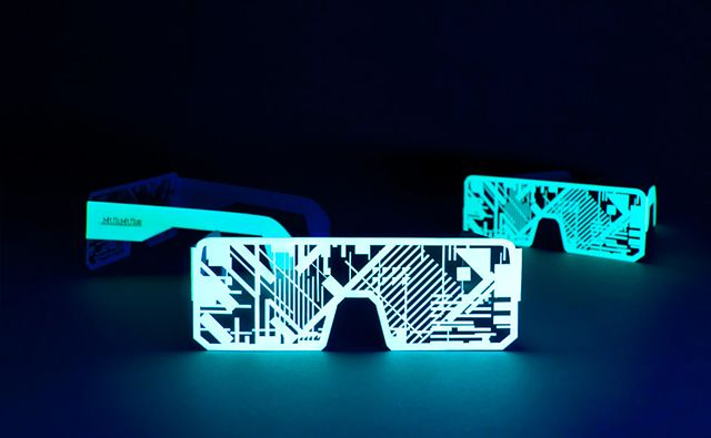 Nordik Impakt 13 Collector Edition Electro-Phosphorscent: Electrophosphoresc Glasses, Graphics Design, Nördik Impakt, Electronics Music, Music Festivals, Accessories, Glow In The Dark, Electrophosphoresc Goodies, Electro Phosphoresc