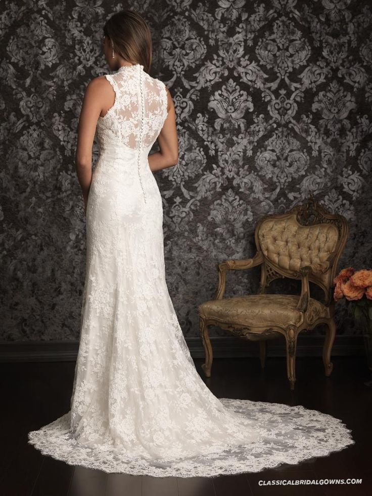Allure Bridals 9019 Vintage Lace Wedding Dress_1