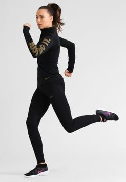 Nike Performance - Tekninen urheilupaita - black/metallic gold