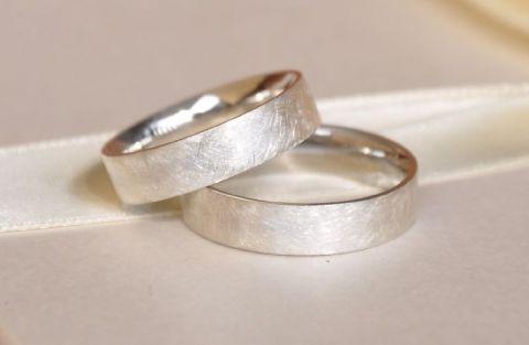 Ezüst matt karikagyűrűk, Ékszer, óra, Meska