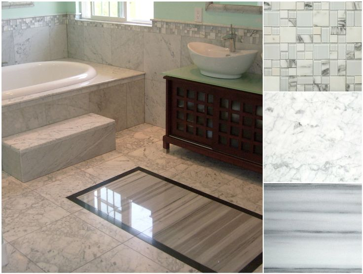 Funtilefriday Features An Adorable Marble Install Including Our Lucente Metro And Bianco Gioia Bathroom Flooringtile Bathroomstypes