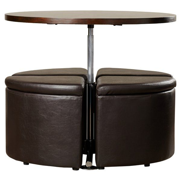 Dempsey Gas Lift Coffee Table With Ottomans Ottoman Coffee Table