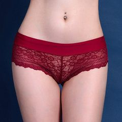Sexy Lace Temptation Seamless Panties Hollow Out Embroidery Cheekies Underwear