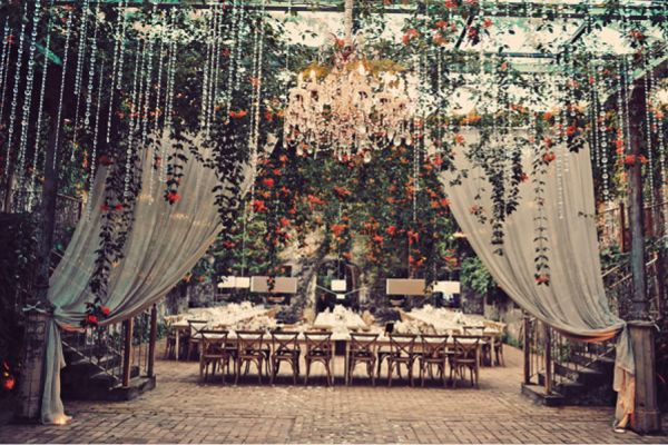 Pretty Perfect Hanging Wedding Decor #wedding #reception #weddingdecor