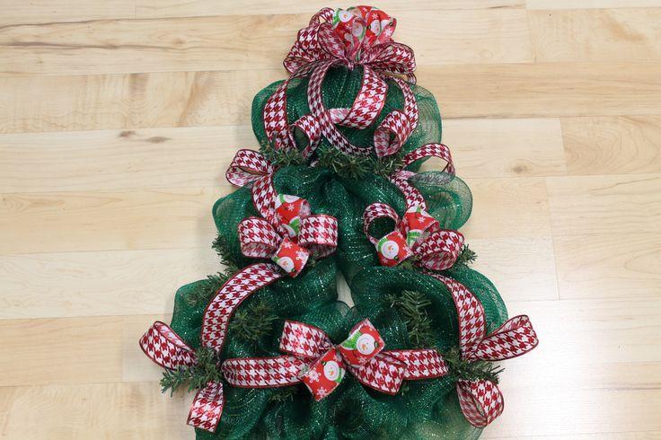 7 Best Diy Mesh Deco Ribbon Christmas Tree Wreath Images