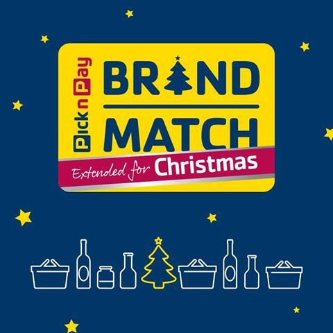 Great news from Pick n Pay Don't pay a cent more than you have to this Christmas! Brand Match has been extended till Feb 2015.