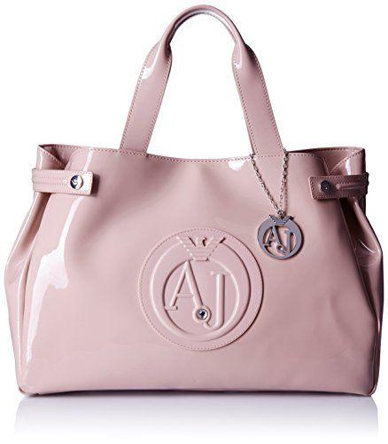 Armani Jeans Eco Patent East West Tote Shoulder Bag, Pink,