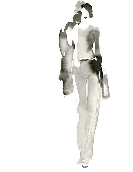 Watercolour fashion illustration // Aurore de la Morinerie fashion drawing