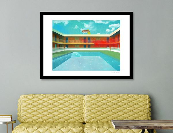 Discover «Swimming pool», Limited Edition Fine Art Print by Dorus  Verwiel…