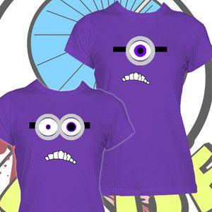 Evil Minion Tshirt New Despicable Me Ladies Shirt Dispicable Minions Girls Tee | eBay - bought and paid for!!
