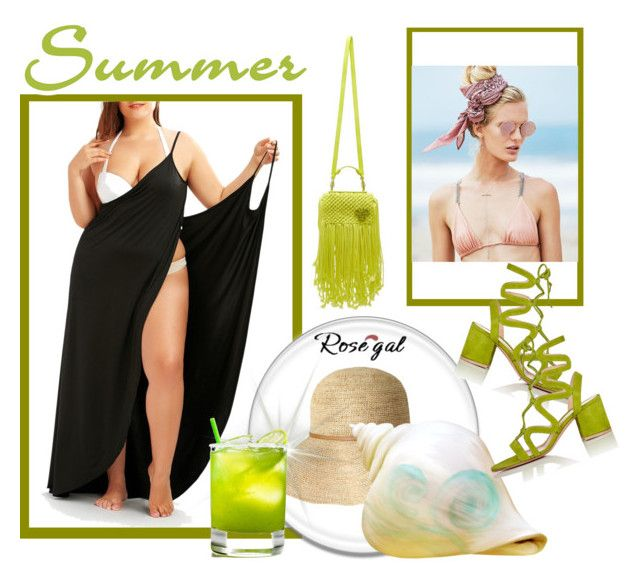 """""""Beach"""" by dzordz ❤ liked on Polyvore featuring Beach Riot, Gianvito Rossi and Emilio Pucci"""