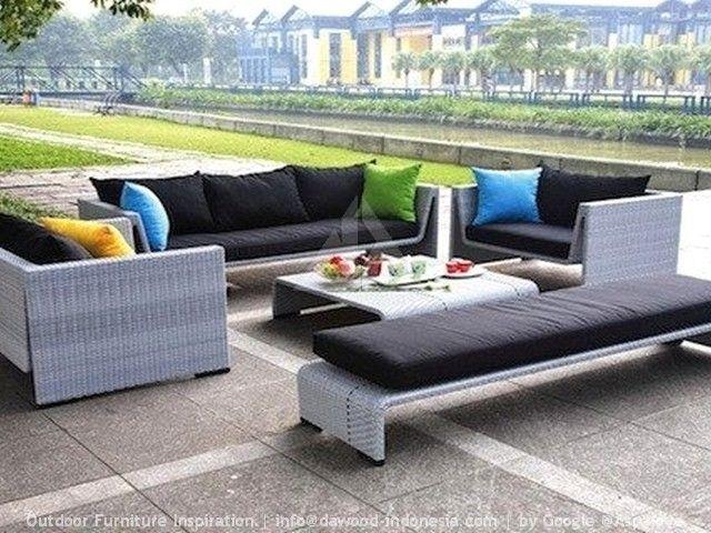 amazing gray wicker outdoor furniture