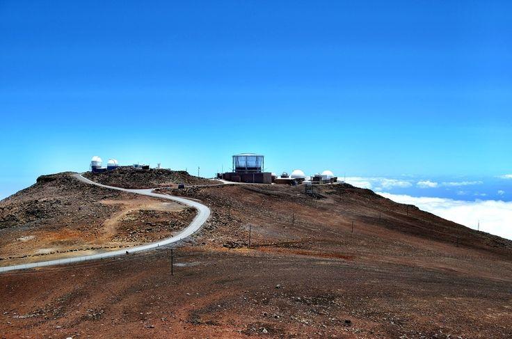 Observatories at the Summit of Haleakala Volcano, Maui: Photo