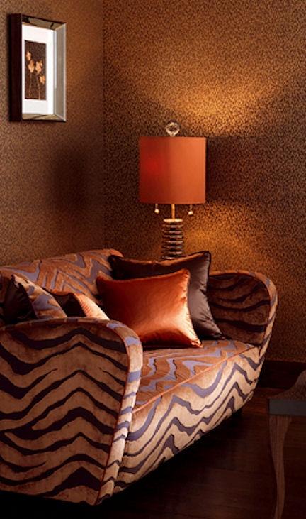 "Osborne & Little ""Serengeti"" Animal Print Fabric, Wallpaper & Trims"
