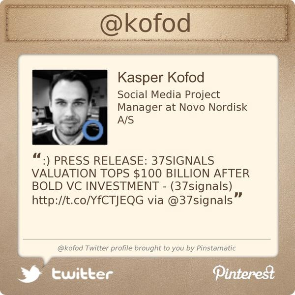 @kofod's Twitter profile courtesy of Pinstamatic (http://pinstamatic.com)