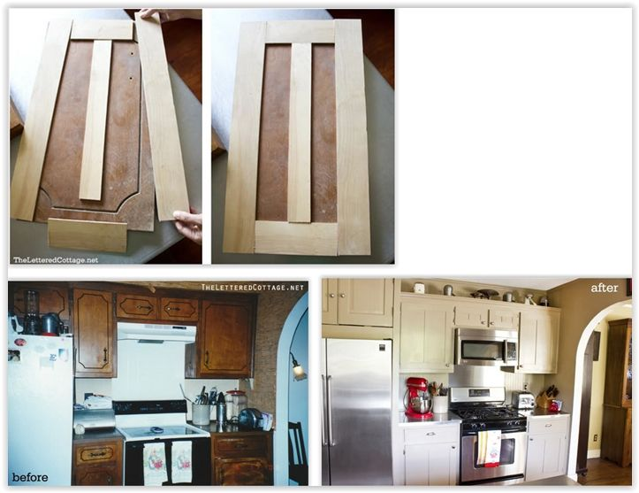 Kitchen Cabinet Makeover To Shaker Style Cabinets One Of The