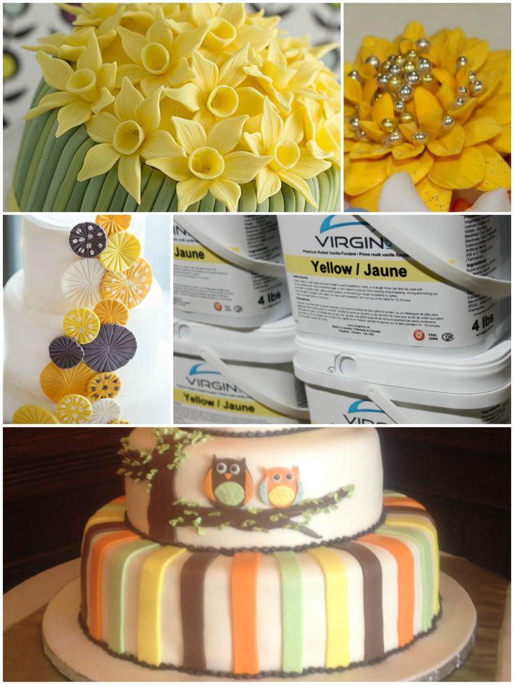 Yellow premium virgin ice fondant