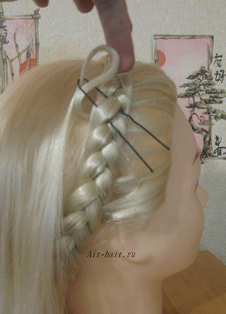 коса ободок