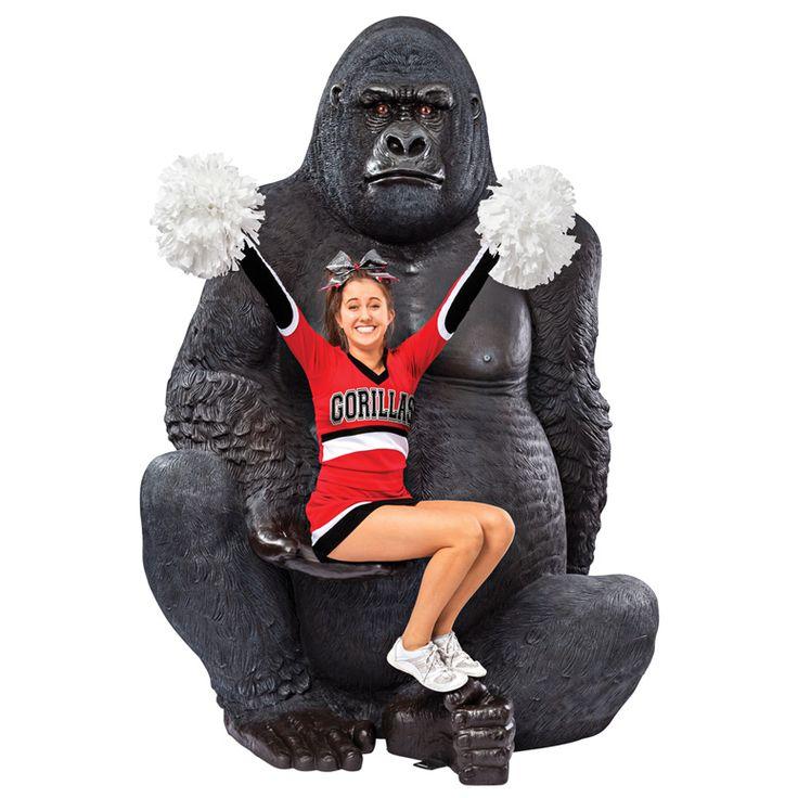 Giant Silverback Gorilla Statue and lots more at thegreenhead dot com