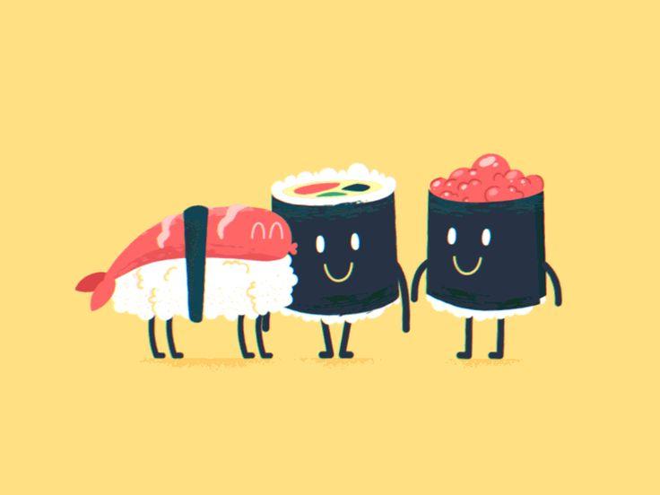 Sushi Friends by Marcus Gestré for Brikk