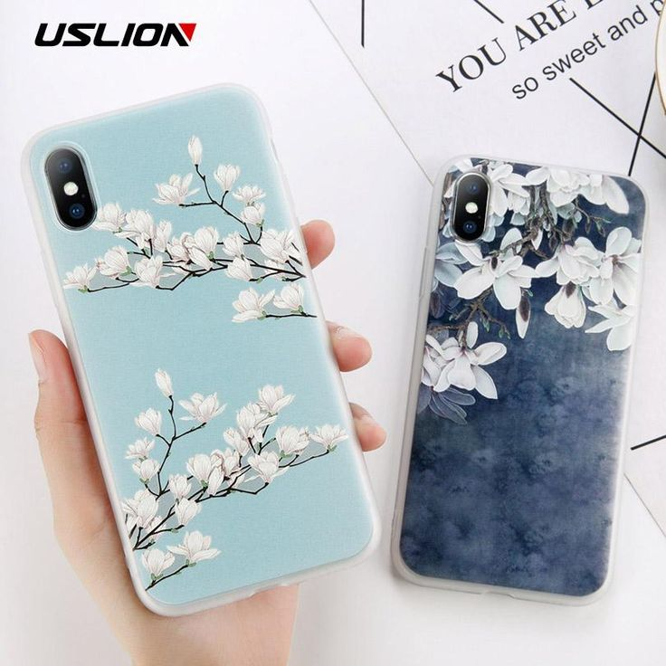 Features:Magnolia Flower Leaves PatternCompatible iPhone Model:iPhone 6s,iPhone …