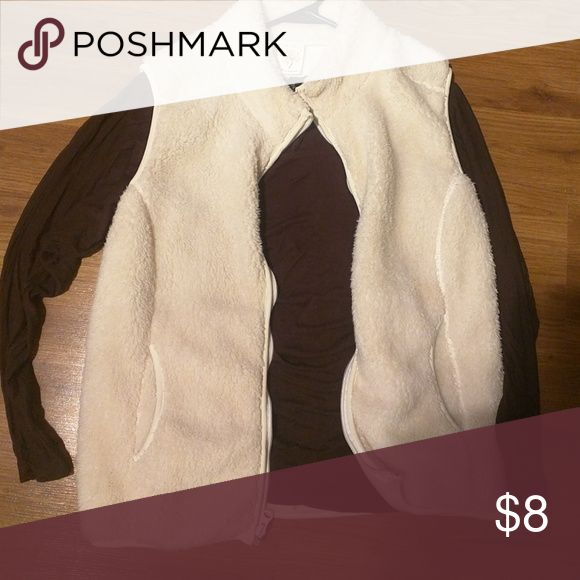 Vest and long sleeve Brown long sleeve Tops