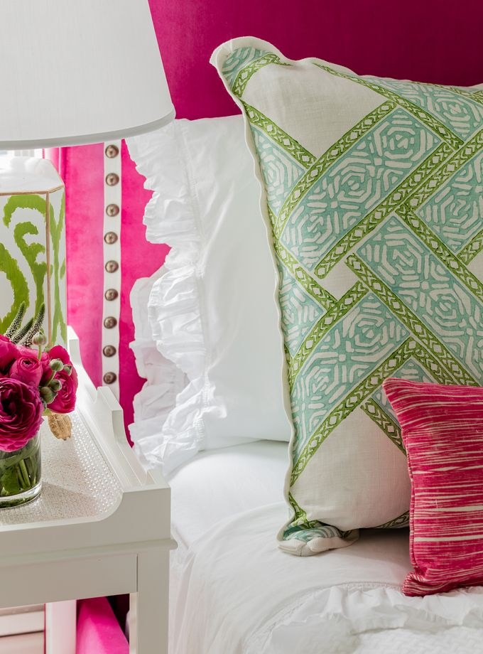 Hot Pink Headboard Elizabeth Home Decor And Design