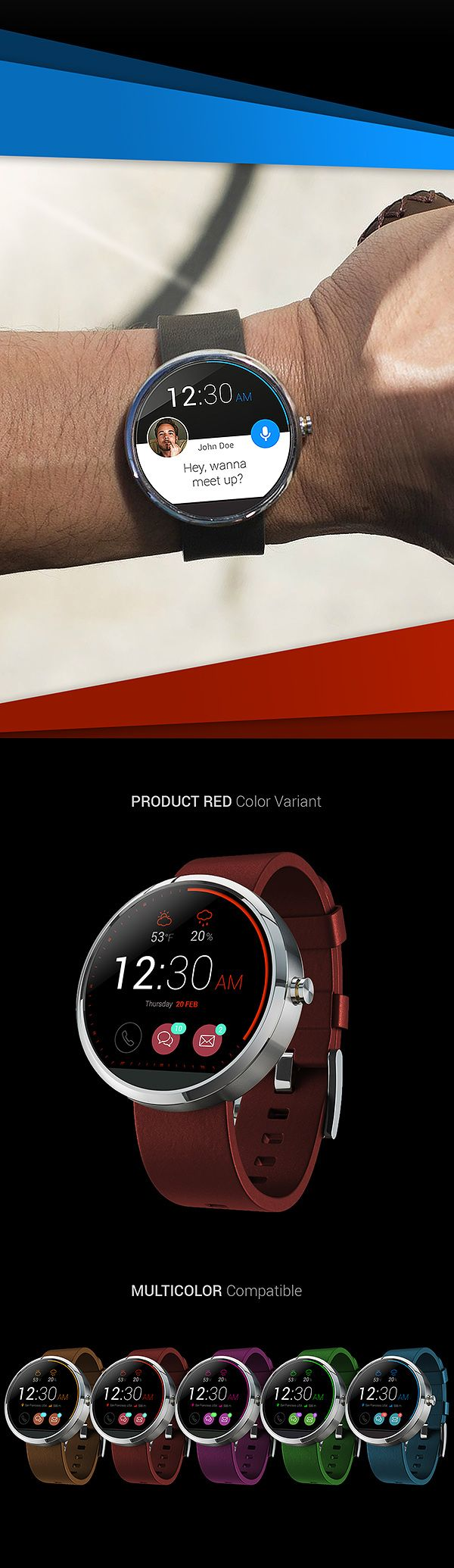 moto360 - Smart Watch Concept by Denny Moritz, via Behance #motorola