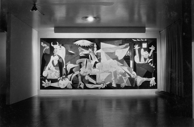 Guernica by Picasso, Museo Reina Sofia, Madrid.  I saw this in person when I was 16 years old... From this same distance!