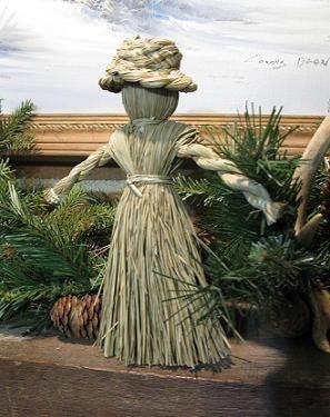 Make a cornhusk doll to celebrate the goddess Brighid.