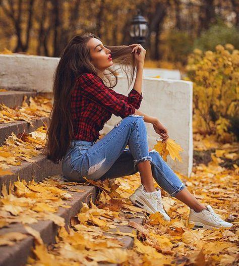 Mode, Mädchen und Herbst Bild