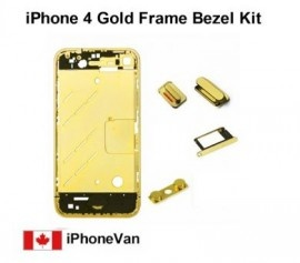 1 x Gold Chrome Bezel  Brand New Gold Metal Mid Chassis for iphone 4  Grade A High quality   Price = $65.50