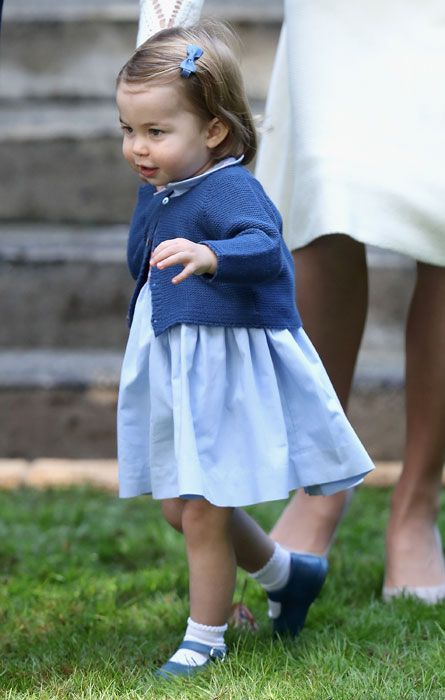 16-month-old Princess Charlotte toddles about on her Canadian tour