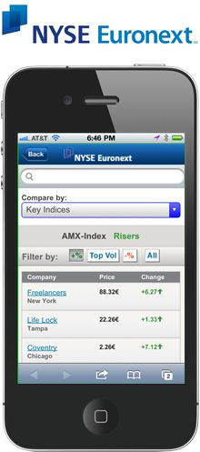 NYSE Euronext Engages Haneke Design for Mobile Solutions  Leading global exchange operator relies on Haneke Design to keep clients, internal teams up to date anytime, anywhere